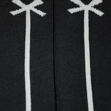 Baby Leg Warmers and Toddler Leg Warmers  - free shipping - black with white bow