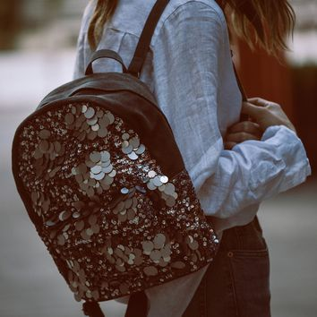 Free People Olympia Sequined Backpack