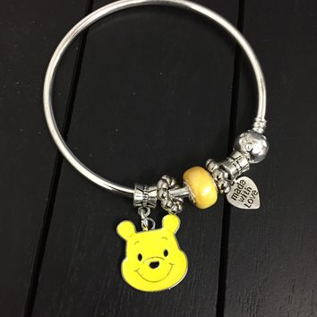 Deluxe Winnie The Pooh Pandora Inspired Charm Bracelet