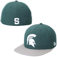 Michigan State Spartans New Era Side Filler 59FIFTY Fitted Hat – Green