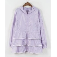 New Fall Winter 2013/14 Cute Vintage Inspired Purple Raincoat from Moooh!!