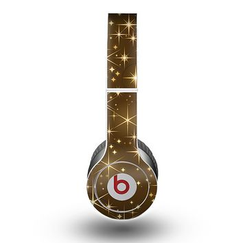 The Golden Glowing Stars Skin for the Beats by Dre Original Solo-Solo HD Headphones