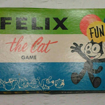Vintage Felix the Cat Game 1960 Milton Bradley Ages 4 to 8 Board Game