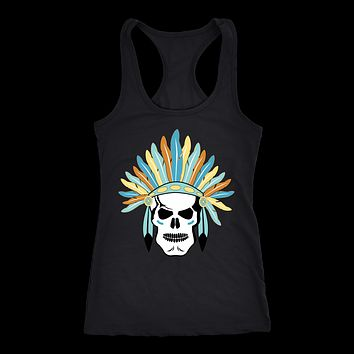 Next Level Racerback 'Indian Skull' Women's Tank Top