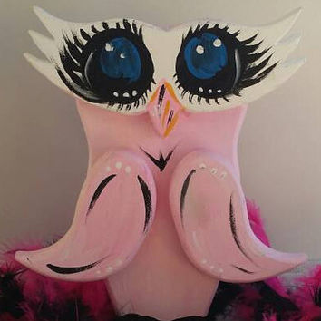 "Sancha' Diva Owl, Sancha' the ""other"" Owl, Girlfriend Owl, Pink Black Feminine Owl, Big Eyed Sexy Owl, Pretty Girl Owl, Mi Sancho' & Sancha"