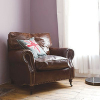 vintage leather armchair by rose & grey   notonthehighstreet.com