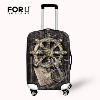 Hot Rudder Vintage Protective Waterproof Luggage Cover Suit 18-30 inch Trolley Suitcase Elastic Luggage Cover Travel Accessories
