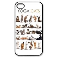 Popular Yoga Cats New Style Durable Iphone 4,4s Case Hard iPhone Cover Case