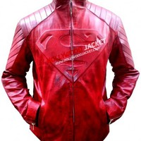 SMALLVILLE: SUPERMAN (CLARK KENT) RED WAXED LEATHER JACKET
