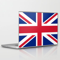 UK FLAG - The Union Jack Authentic color and 3:5 scale Laptop & iPad Skin by LonestarDesigns2020 - Flags Designs + | Society6
