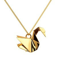 Necklace Swan | Origami Jewellery