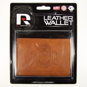 Licensed Ohio State Buckeyes Official NCAA Leather Trifold Wallet OSU by Rico Industries KO_19_1