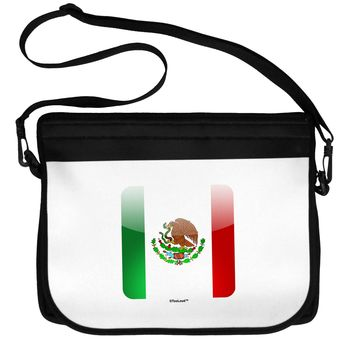Mexican Flag App Icon Neoprene Laptop Shoulder Bag by TooLoud
