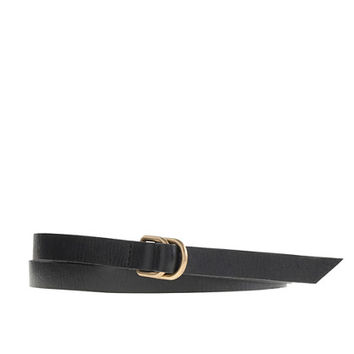 J.Crew Womens D-Ring Skinny Leather Belt