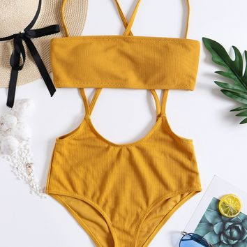 Summer Beach New Arrival Sexy Swimsuit Hot Swimwear Hot Sale Set Bikini [1975309008993]