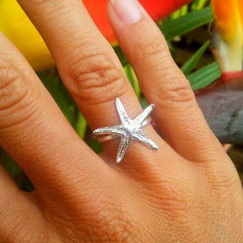 Sterling Silver Starfish Ring