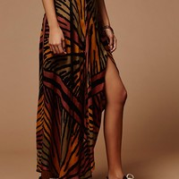 Free People Le Tigre Wrap Maxi Skirt