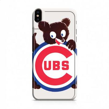 Chicago Cubs cute logo iPhone X case