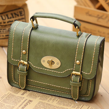 Green Messenger Handbag Crossbody Shoulder Bag