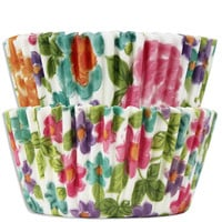Bright Floral Baking Cups