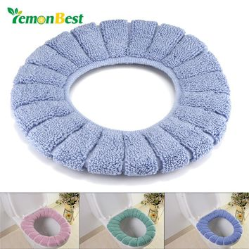 Toilet Cover Seat Lid Pad Soft Warmer Bathroom