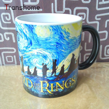 Transhome Lord Of The Rings Color Changing/Change Mug Porcelain Heat Sensitive Magic Mug For Coffee Tea Milk Drop shipping!