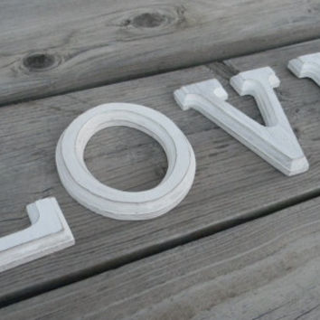 Love Distressted Wood Letters Wedding Photo Prop