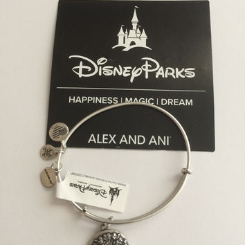 Disney Alex and Ani Parks 2017 Animal Kingdom Silver Finish Bracelet New with Tags