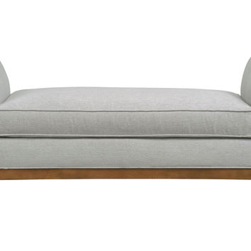 "Brooks 60"" Bench Light Gray Bedroom from e Kings Lane"