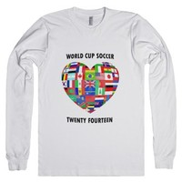 2014 World Cup Soccer-Unisex White T-Shirt