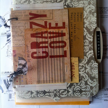 Crazy Love Junk Journal by elisahernandez on Etsy