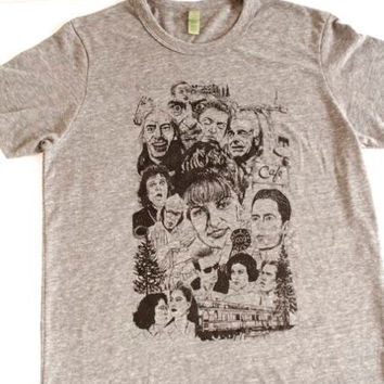 TWIN Peaks AGENT COOPER & the whole gang T-shirt