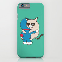 Cat Hugs iPhone & iPod Case by Huebucket