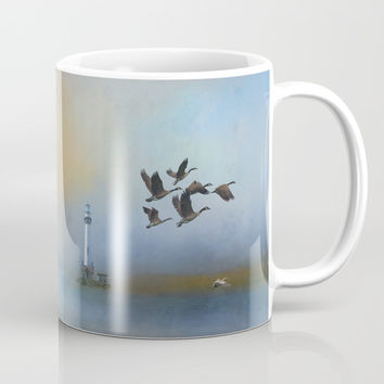 Lighthouse In Time Mug by Theresa Campbell D'August Art