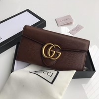 Kuyou Burberry Gb19710 400586 Gucci Coffee Long Two-discount Wallet 19cm*10cm*2.5cm