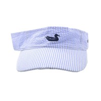 Limited Edition Seersucker Visor with Navy Duck by Southern Marsh