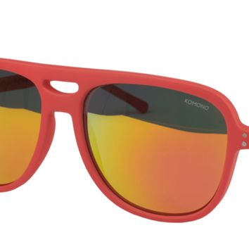 Komono Rafton Brick Red Sunglasses