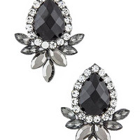 Floral Jeweled Earrings