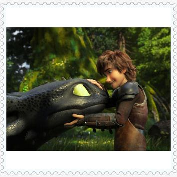 5D Diamond Painting Hiccup and Toothless How to Train a Dragon Kit