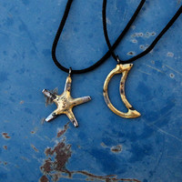 Pendants Moon & Star Necklace Set Rustic Jewelry by BradGoodell2