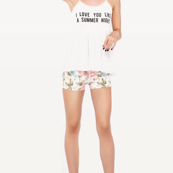 LOVE YOU LIKE SUMMER IRISH FESTIVAL TANK at Wildfox Couture in  - CLEAN BLACK, -CLEAN WHITE