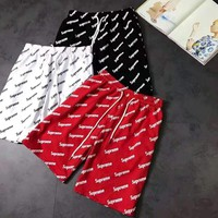 Supreme 2018 summer new short-sleeved shorts suit full of letters printed casual lovers F-CN-CFPFGYS
