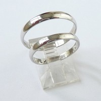 White gold wedding bands set wedding rings men and woman classic ring