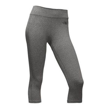 Women's Pulse Capri Tights in Medium Grey Heather by The North Face - FINAL SALE