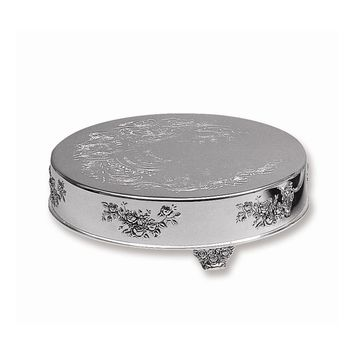 "Silver-plated 14"" Round Cake Plateau"