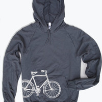 Unisex Vintage BIKE Fleece PULLOVER Hoody  - American apparel - 4 Colors