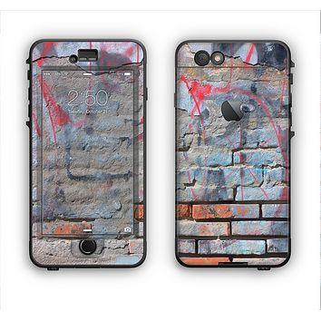 The Blue Chipped Graffiti Wall Apple iPhone 6 LifeProof Nuud Case Skin Set