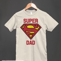 Super Dad-Unisex Natural T-Shirt