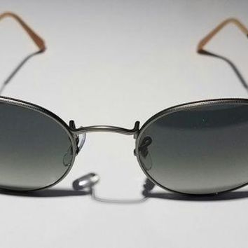 DCCKHI2 Brand New RayBan Sunglasses RB 3447 Round Metal 029/71 Size 50-21-145 Italy