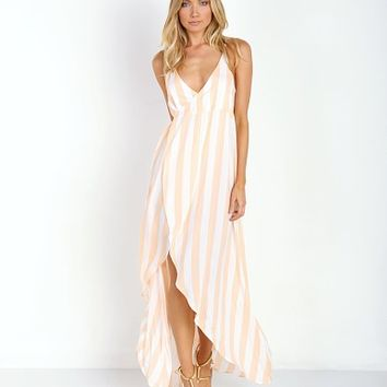 WILDFOX Atlantis Wrap Dress Hotel Stripe SRV48236A - Free Shipping at Largo Drive